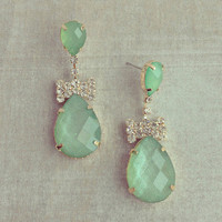 Pree Brulee - Mint Crystalized Earrings