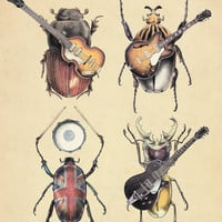 Meet the Beetles Art Print by Eric Fan