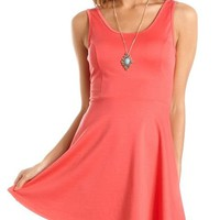 Bow-Back Skater Dress: Charlotte Russe