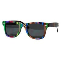 Amazon.com: Green Tribal Wayfarer Style Sunglasses: Clothing