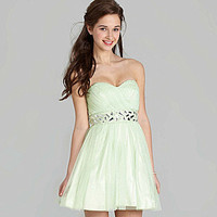 B. Darlin Strapless Shirred Party Dress | Dillards.com