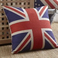 British Vintage Style Union Jack Flag Throw Pillow Case, Pillowcase:Amazon:Home & Kitchen