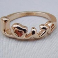 Love Script Above Knuckle Midi Mid Ring Silver Gold