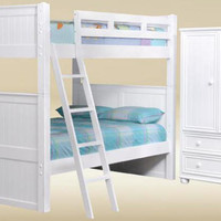 Beatrice White Full over Full Bunk Bed