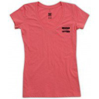 Women's Pink Small Stamp V-Neck | TOMS.com
