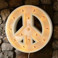 Marquee Peace Wall Light