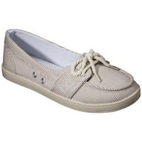 Women's Merona® Lari Canvas Boat Shoe - Tan