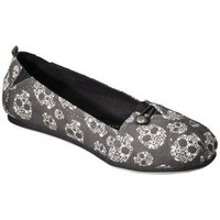 Women's Mad Love® Lynn Canvas Loafer - Grey with Skulls