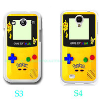 Pokemon GameBoy Color Yellow Photo- Samsung Galaxy S3,Samsung Galaxy S4,you can choose S3 or S4-includes screen protector and cleaning cloth