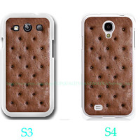 Ice Cream Sandwich Case-Samsung Galaxy S3 ,Samsung Galaxy S4 ,you can choose S3 or S4-includes screen protector and cleaning cloth