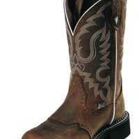 "Justin Gypsy 11"" Brown Aged Bark Cowgirl Boots L9909"