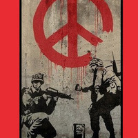 Personalized iPhone 5 case - Banksy Soldier Painting Peace Sign plastic case-includes screen protector and cleaning cloth