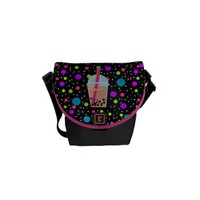 Bubble Tea - Bubble Background Courier Bag from Zazzle.com