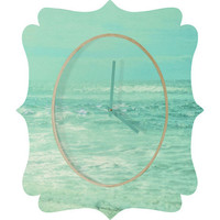 DENY Designs Home Accessories | Lisa Argyropoulos Where Ocean Meets Sky Quatrefoil Clock