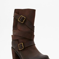 France Strapped Boot - Brown