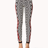 Tribal Print Embroidered Skinny Jeans | FOREVER 21 - 2054776527
