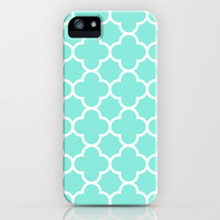 MOROCCAN {TEAL & WHITE} iPhone & iPod Case by natalie sales