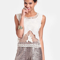 Vacay Crocheted Top By Lovers + Friends - $92.00 : ThreadSence, Women's Indie & Bohemian Clothing, Dresses, & Accessories