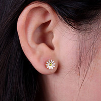 Cute Daisy Flower Earrings