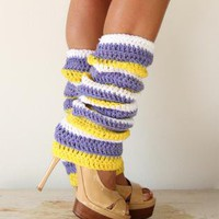 Lakers Girl Cheerleading Leg Warmers by Mademoiselle Mermaid