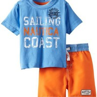 Nautica Baby-Boys Infant 2 Piece Sailing Coast Swim Set:Amazon:Clothing