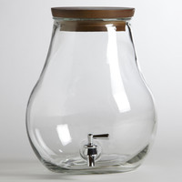 7-Liter Glass Teardrop Tank
