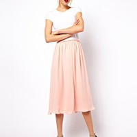 Mango Full Midi Skirt at asos.com