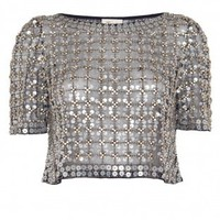 Angeli Lattice Crop Top - Temperley