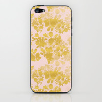 Audrey - Gold iPhone & iPod Skin by gabi press