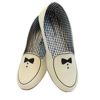 Loly in the Sky — Girl beige flats with tuxedo - Loly in the sky - Spring/Summer 2013 Collection