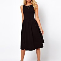 ASOS Midi Sundress With Scoop Back at asos.com