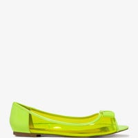Peep Toe Jelly Flats