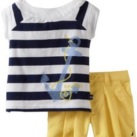 Nautica Baby-girls Infant 2 Piece Set with Boat Neck Top:Amazon:Clothing