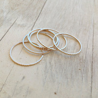 2 Gold rings, gold ring, thin rings, stacking rings, stacking gold rings, thin ring, tiny ring, gold stacking rings, simple gold ring