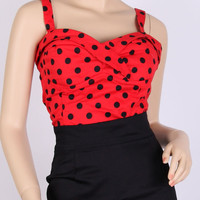 50s Pinup Top Rockabilly  XS/S/M/L/XL/1X/2X/3X/4X