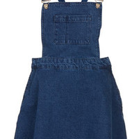 MOTO Blue Denim Pini Dress - Denim  - Clothing