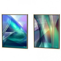 Menaul Fine Art Aqua Crossover and Guise Limited Edition Framed Canvas Set - Scott J. Menaul - AB1-0 - All Wall Art - Wall Art & Coverings - Decor