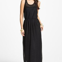 Way-In Zigzag Crochet Maxi Dress (Juniors) | Nordstrom
