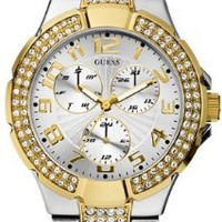 GUESS Status In-the-Round Watch - Gold and Silver:Amazon:Watches