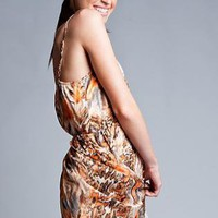 Mixed Tiger Print Dress