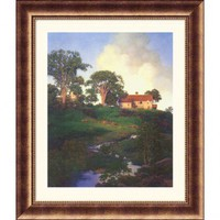 Great American Picture Hunt Farm Bronze Framed Print - Maxfield Parrish - 607-Bronze - All Wall Art - Wall Art & Coverings - Decor