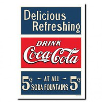 "Trademark Global 32"" Coca Cola Soda Fountain Stretched Canvas Art - CokeVS01-C2432GG - All Wall Art - Wall Art & Coverings - Decor"