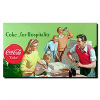 Trademark Global Coca Cola Coke for Hospitality Stretched Canvas Art - CokeW0135-C1424GG - All Wall Art - Wall Art & Coverings - Decor