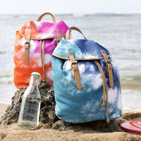 Be Bright Beach Backpack, Pool Tie Dye