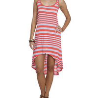 Variegated Striped High-Low Dress | Shop Sale at Wet Seal