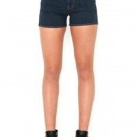 Missguided - Malena Ripped Detail Dark Denim Shorts