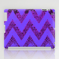 purple chevron iPad Case by Marianna Tankelevich