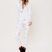 Free People Printed Ankle Skinny