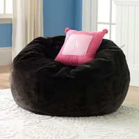 Brown Luxe Fur Small + Large Beanbags