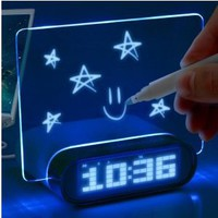 ENHANCE 4 Port USB 2.0 Desk Hub Glowing Memo Alarm Clock & Temperature for Mice , Keyboards , Tablets , Smartphones , MP3 Players , Digital